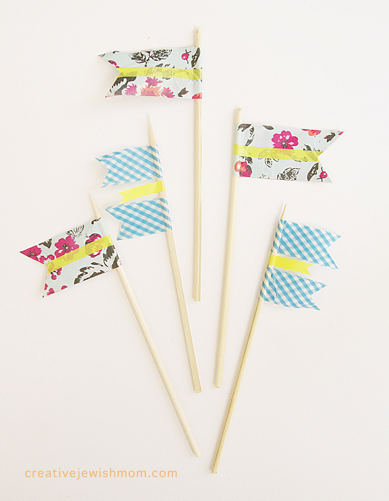 Washi Tape Flags on skewers