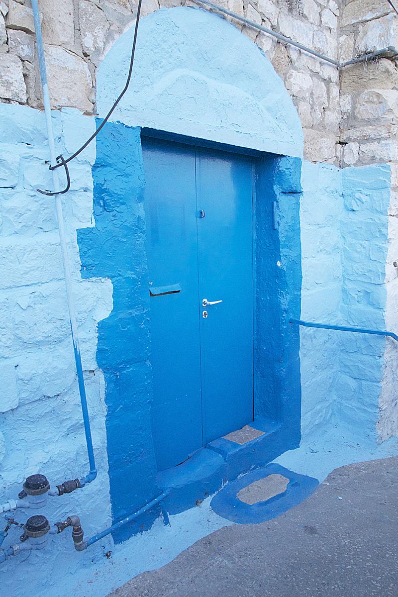Blue Door in Safed