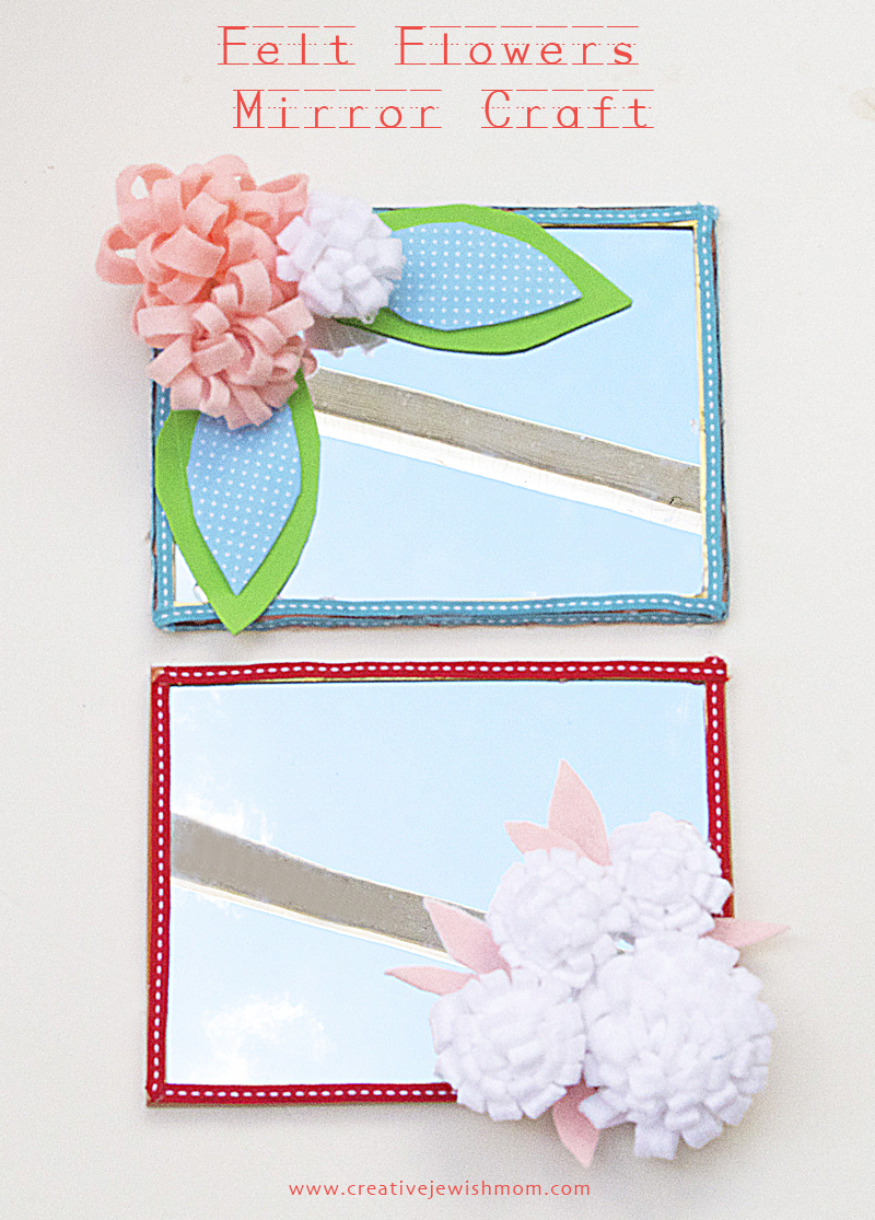 Plastic mirror sheets for crafts - Felt Flower Mirrors