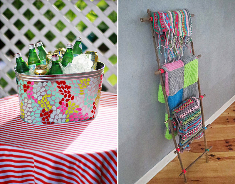 Finger-print-ice-bucket, DIY stick ladder for blankets