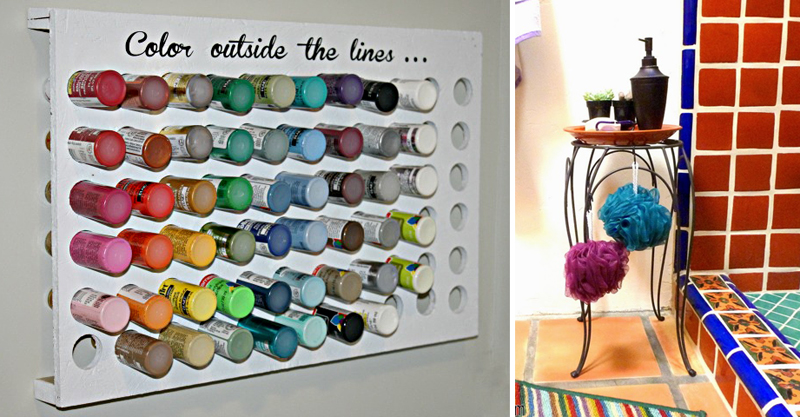 Craft room paint holder,bathroom caddy