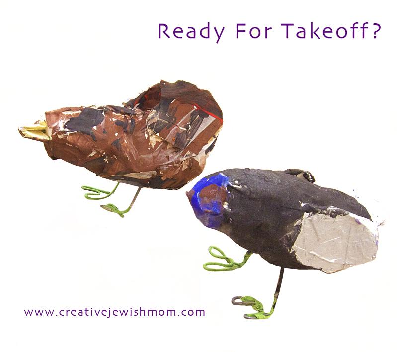 Paper Mache Birds Kid's Craft 2