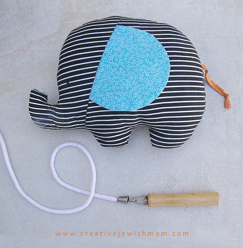 Stuffed elephant toy for babies