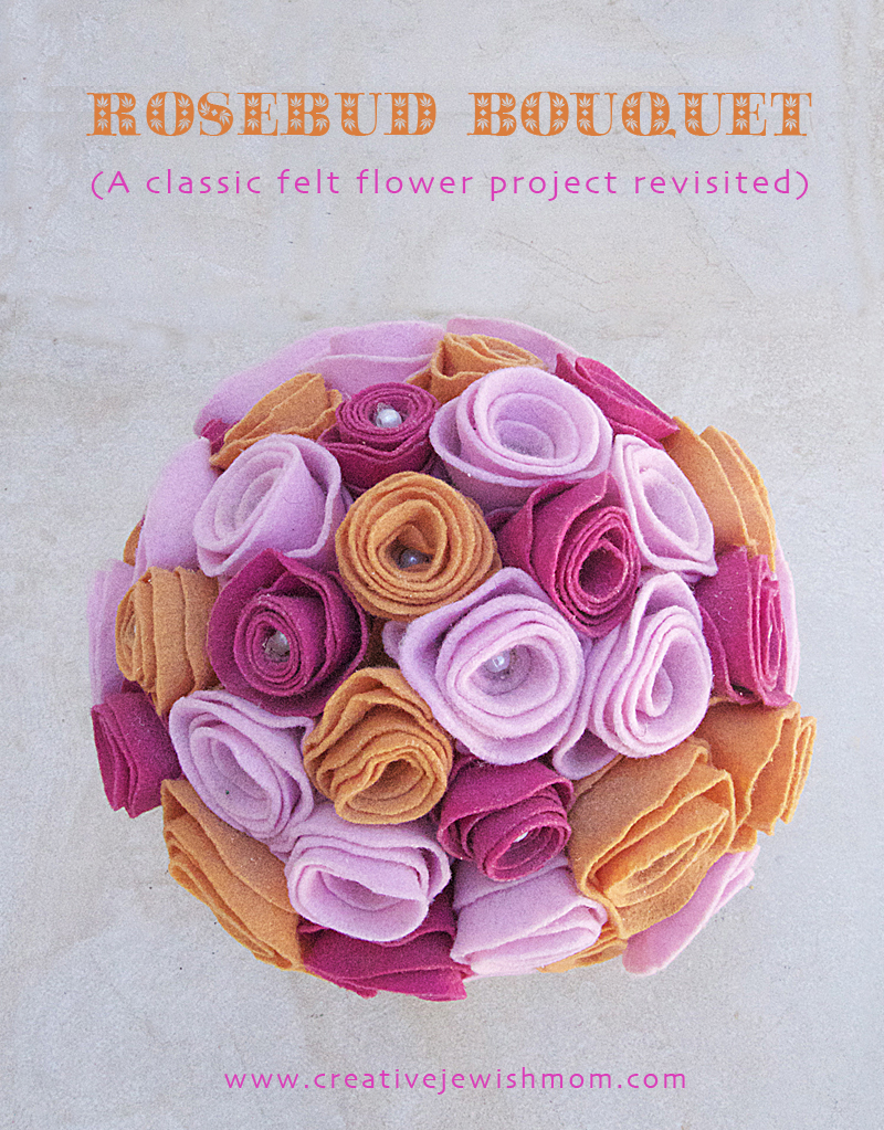 Felt Rosebud Bouquet