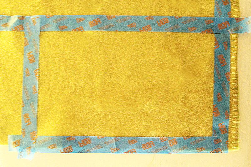 No Sew Fleece Scarf Step #2a