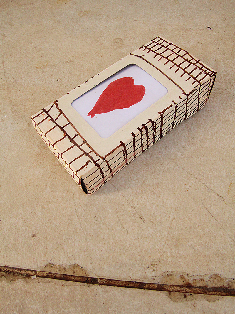 Recycled Crafting Cosmetic Box Heart Block