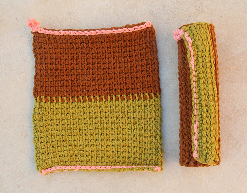 Tunisian Crochet Cotton Washcloths