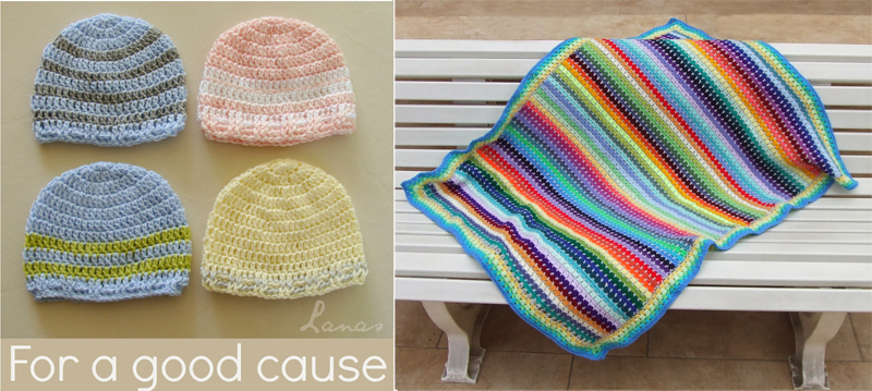 Crocheted baby hats for charity,baby blanket