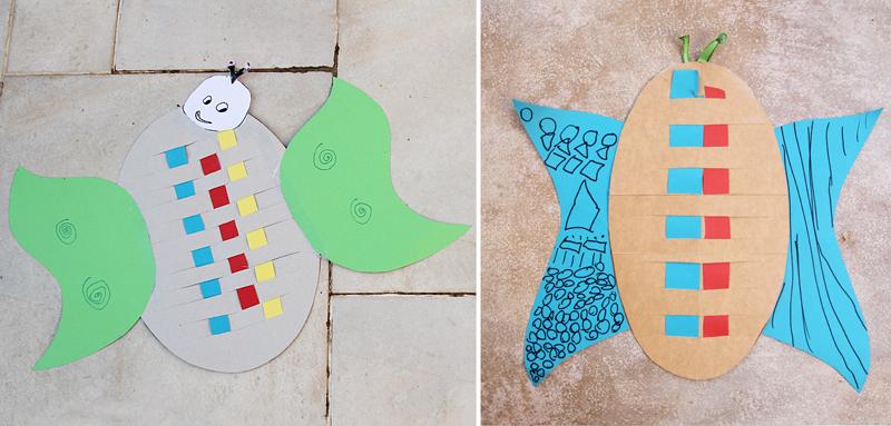 Kid's Craft Woven Butterflys