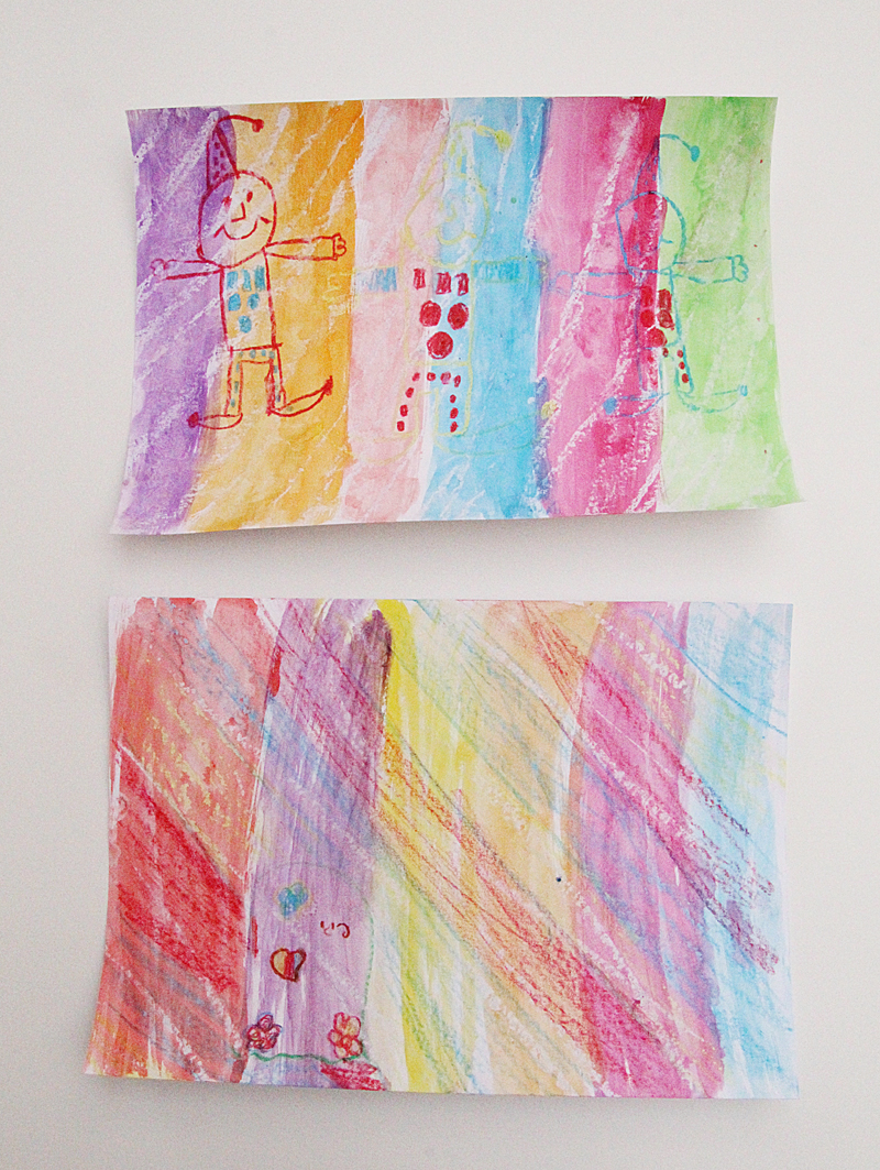 Crayon and Wax Resist Paintings