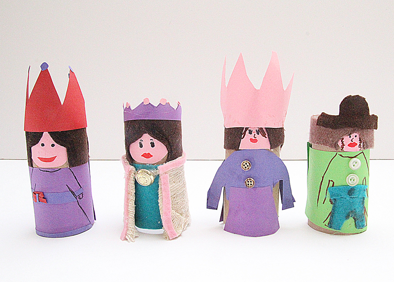 Toilet Paper Tube Dolls For Purim