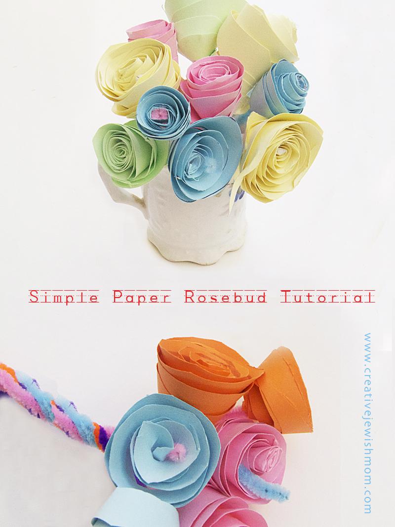 Paper Rosebud Tutorial step by step photos