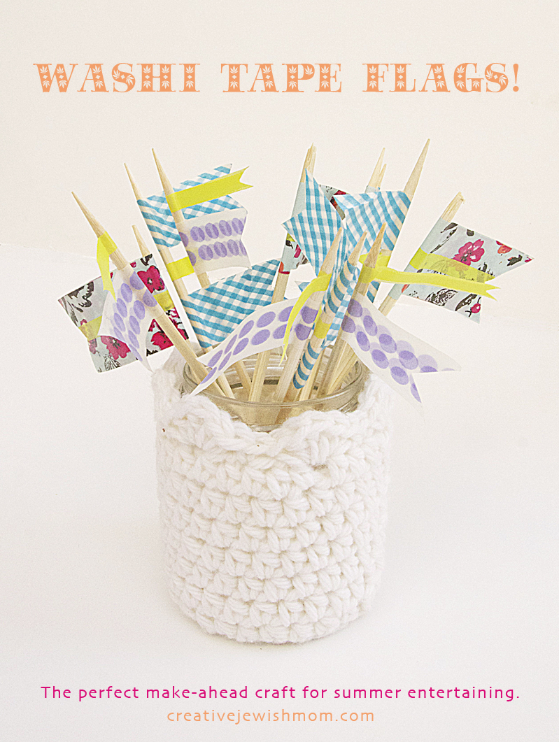 Washi Tape Flags For Food