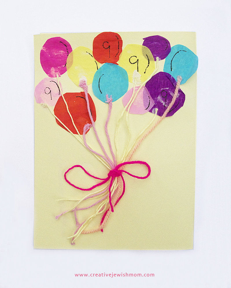 Balloon Birthday Card Kids Craft