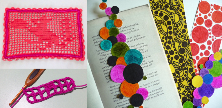 Filet crochet tutorial,circle bookmarks