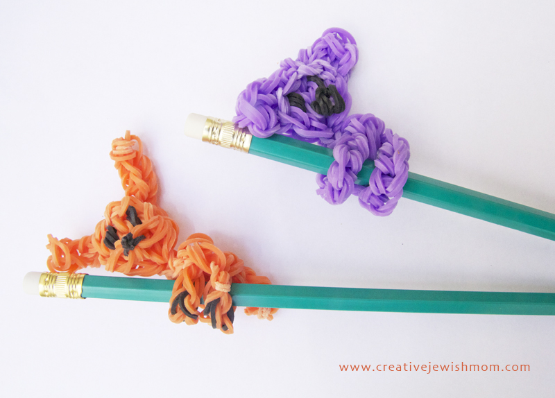 Rainbow Loom Pencil Topper Koala Bear adn Puppy