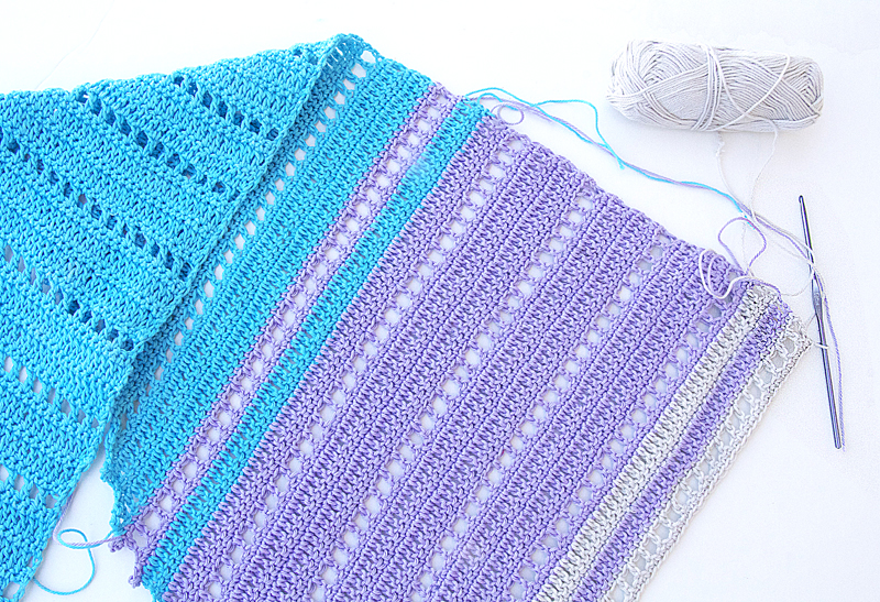 Crocheting With Cotton Scarf In Progress