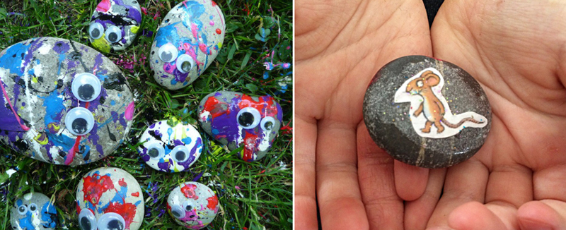 Splatter rocks,story rocks craft