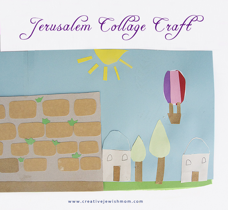 Kotel Jerusalem collage craft for kids2