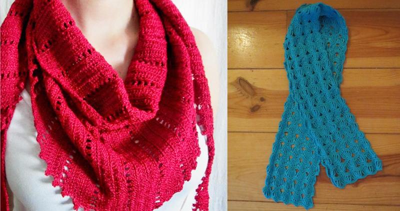 Baktus scarf,crocheted scarf