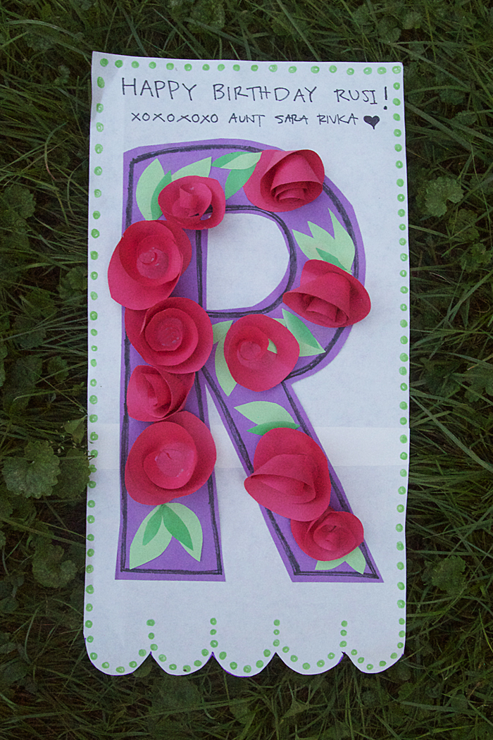 Birthday Letter Banner With Paper Roses