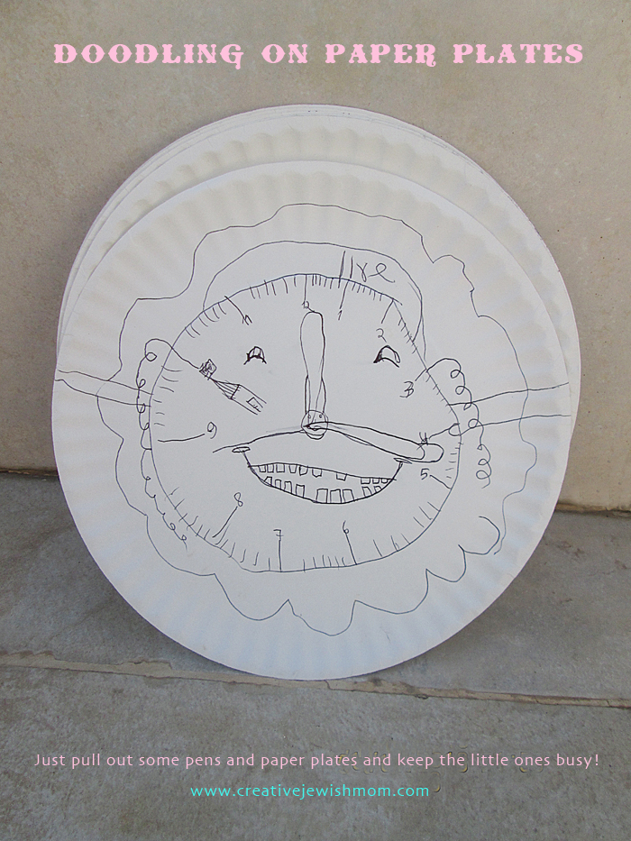 Doodling On Paper Plates Craft For Anytime! & Doodling On Paper Plates Craft For Anytime! - creative jewish mom