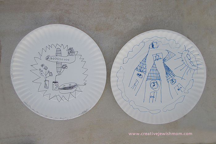 Doodling on Paper Plate Craft for kids