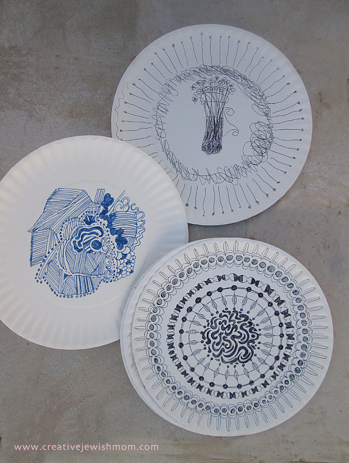 Doodling On Paper plates craft for kids