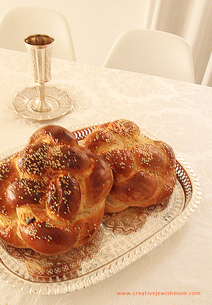 Round Challahs For Rosh HaShana on Moroccan tray