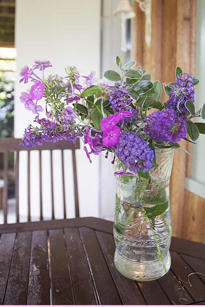 Wild Phlox And Buddleia Bouquet For Shabbat on The Sunshine Coast, BC