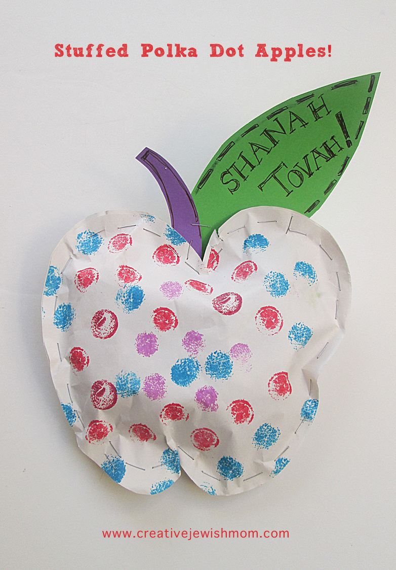 Apple Craft Stuffed for rosh hashana