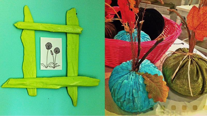Driftwood frame,velvet stuffed pumpkins