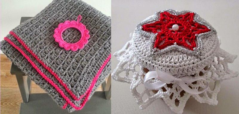 Crocheted star jar topper,simple crocheted baby blanket