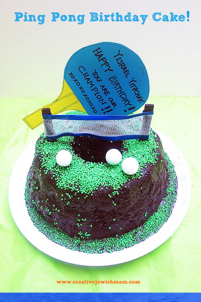 A Super Simple Ping Pong Birthday Cake Creative Jewish Mom