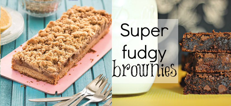 Super fudgy brownies,apple honey crumble