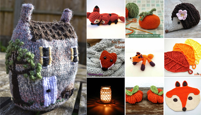 Knit house,fall crochet patterns