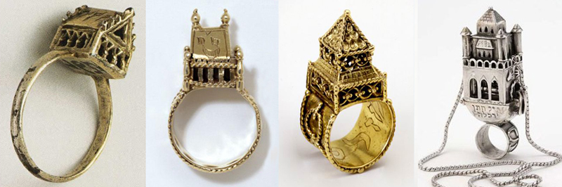 jewish wedding ring in shape of house - Jewish Wedding Rings