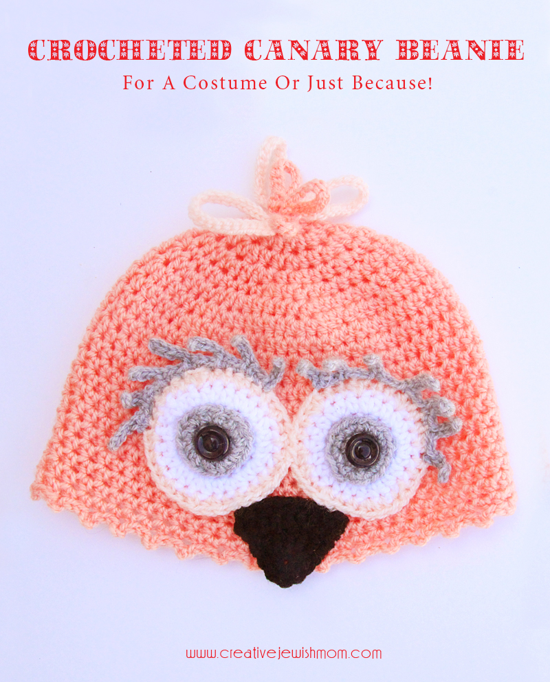 Crocheted Canary Beanie