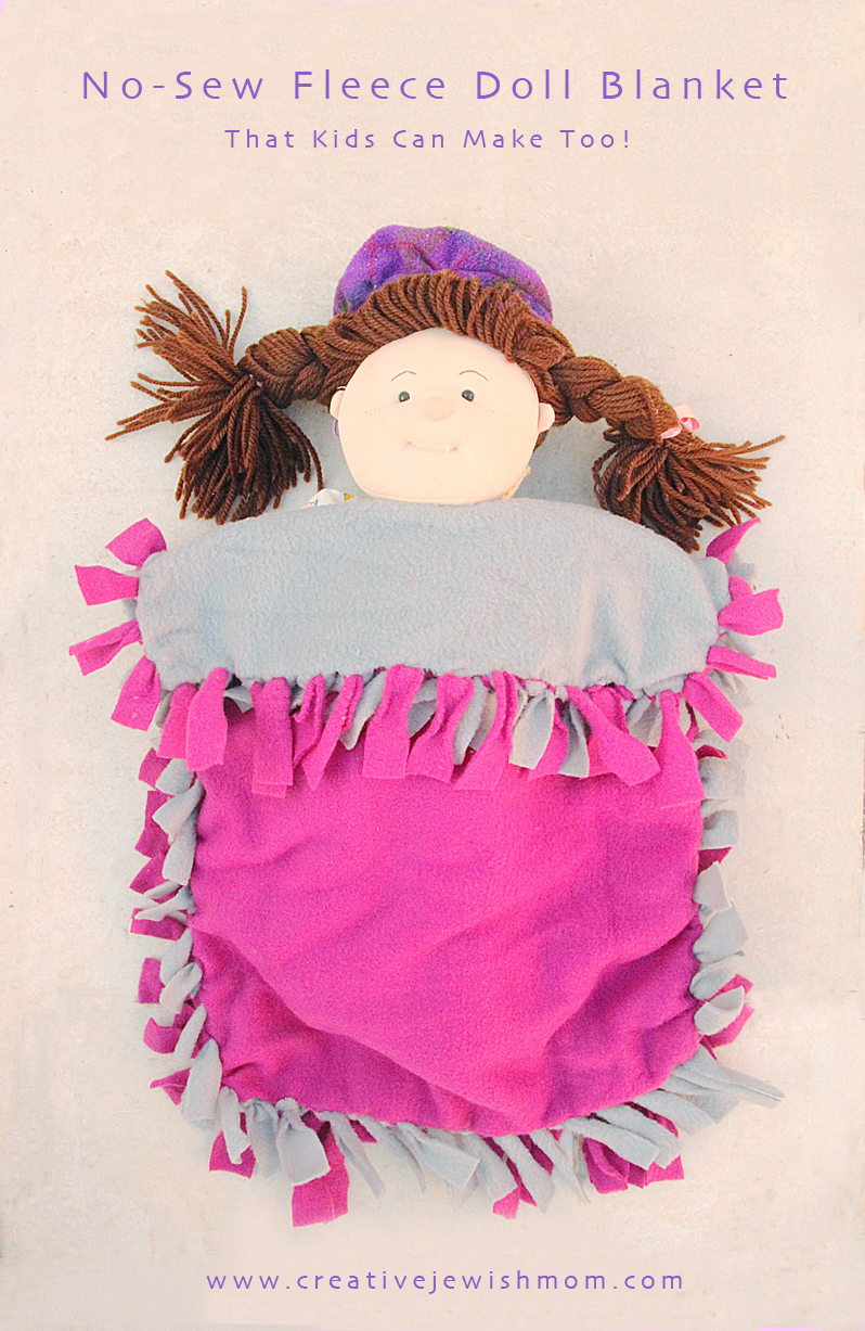 New Sew Fleece Fringed Doll Blanket 800