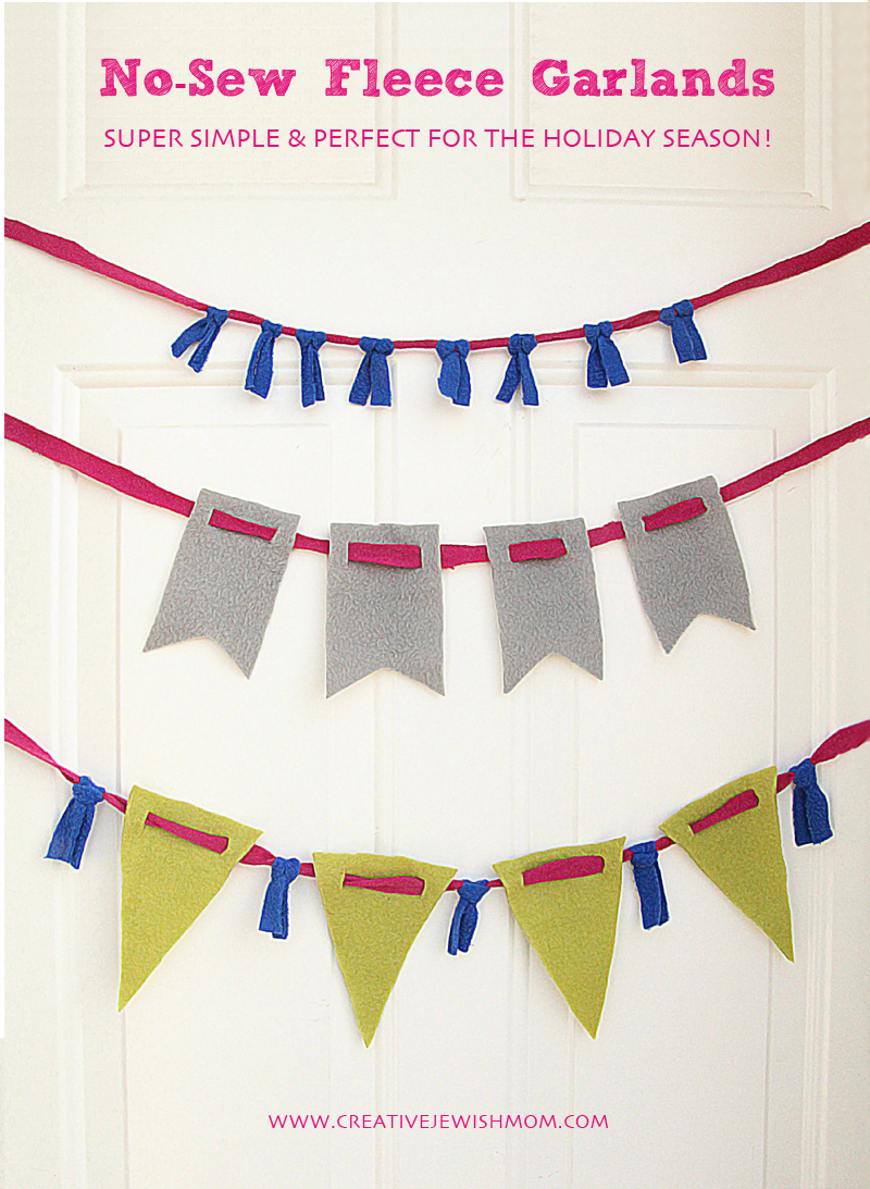 No Sew Fleece Party Decorations bunting banners