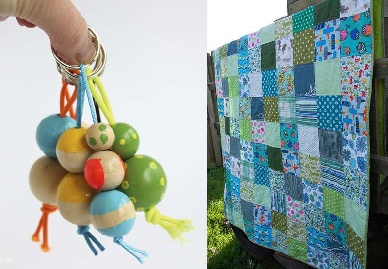 Painted wooden beads keychains,simple patchwork quilt for boys