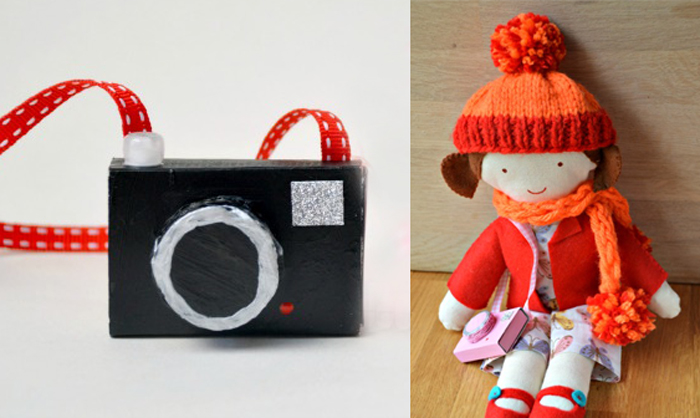 Matchbox camera craft for a doll