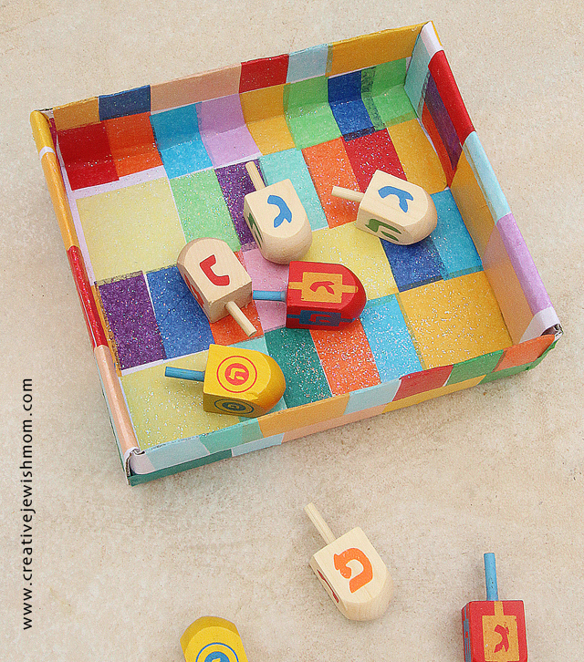 Hanukkah kid's craft decoupage catch all