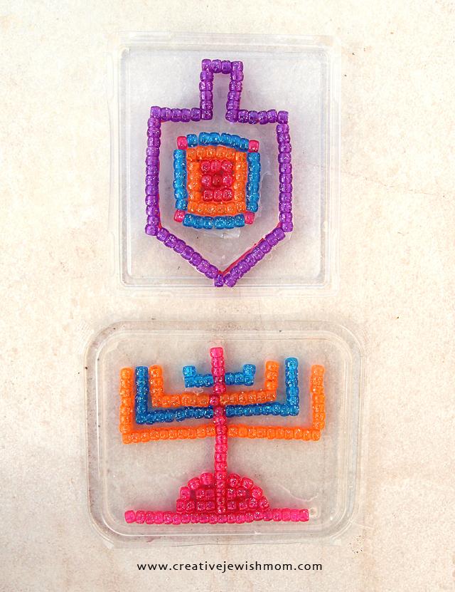 Hanukkah craft for kids bead sun catchers