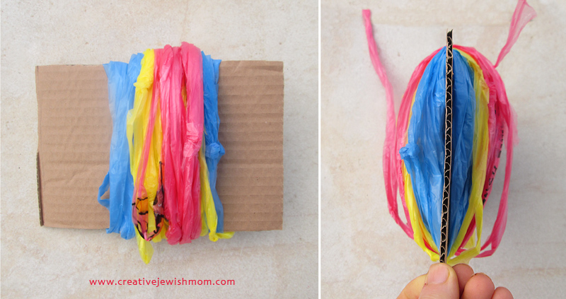 Pom Pom from plastic bags how to