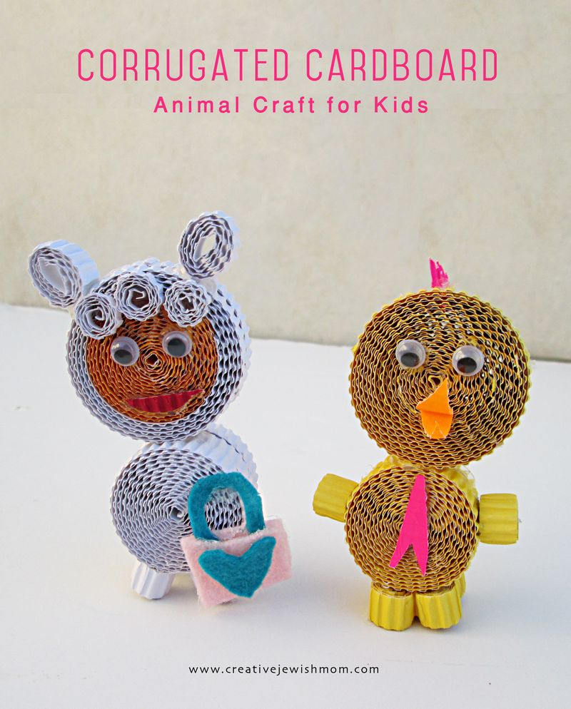 Corrugated Cardboard Animals Craft For kids