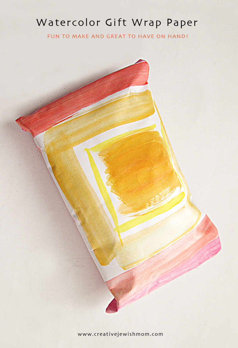 Watercolor Giftwrap craft