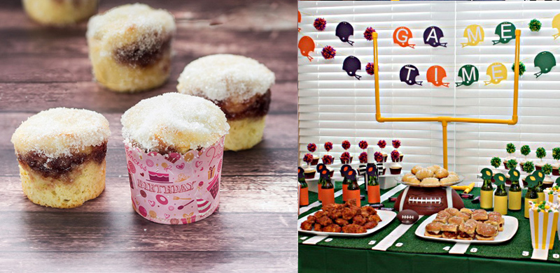 Mini doughnut muffins,pvc pipe field goal for table