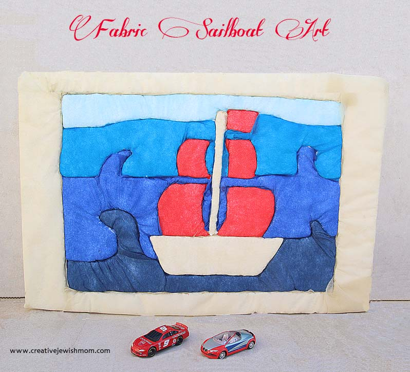 Fabric Sailboat Art Craft