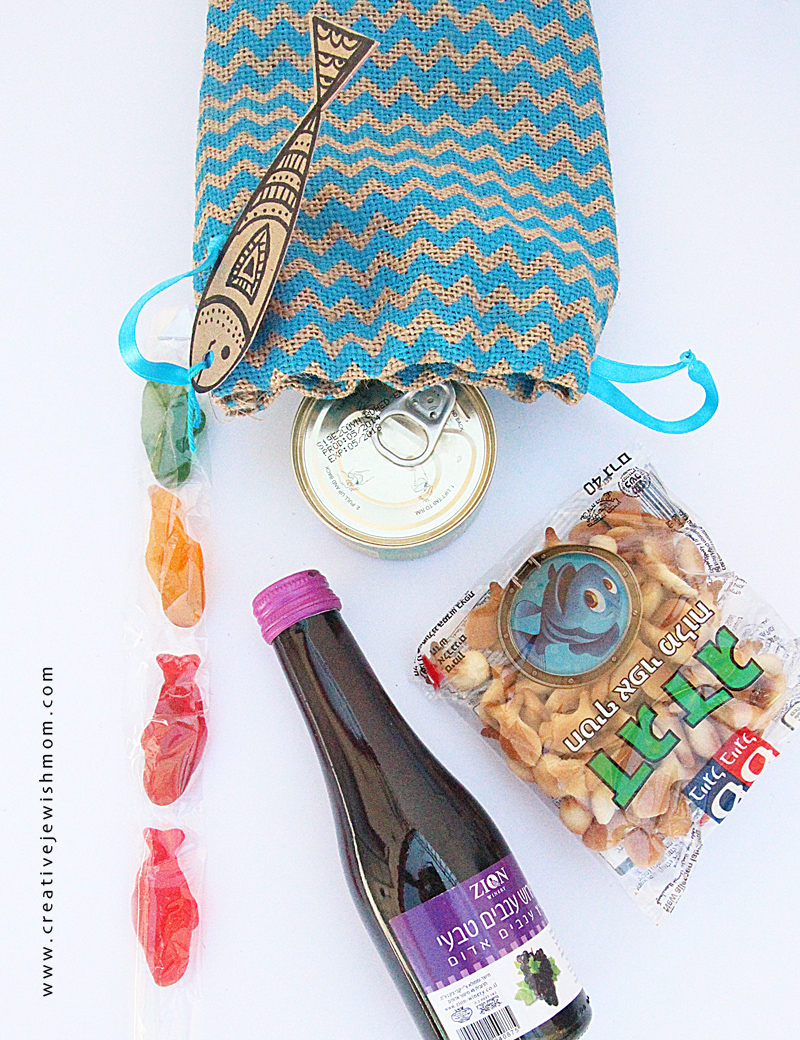 Burlap  Gift Bag For Mishloach Manot Contents